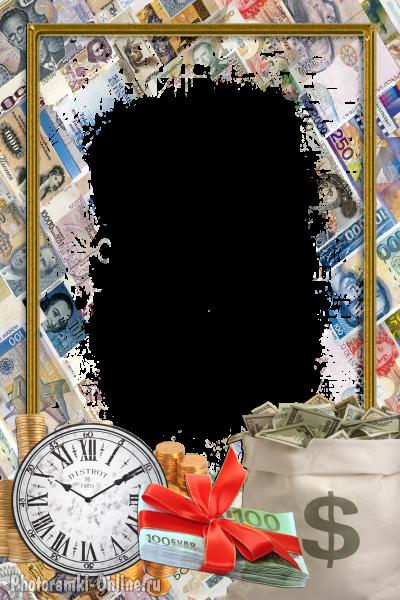Рамка для открытки с деньгами